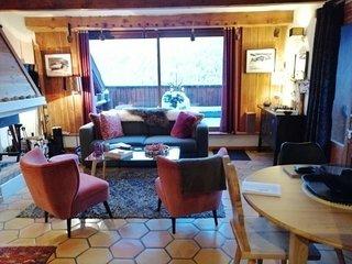 Charmant 2pieces mezzanine pour 6 dans hameau typique montagne a Pra Loup
