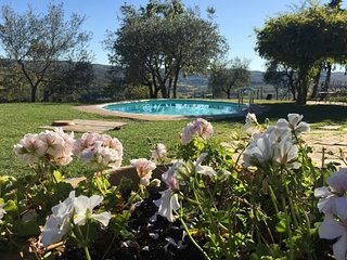 romantic stylish villa with private pool and  stunning view santaluciainchianti