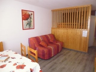 Studio cabine (semi ouverte) 4 personnes, residence Mongie Tourmalet