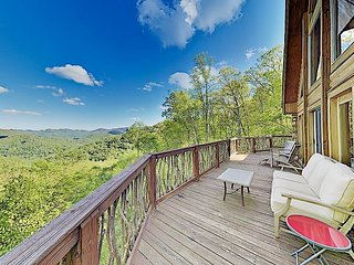 Luxe Mountain Retreat w/ Game Room, Large Deck & Stunning Mountain Views!