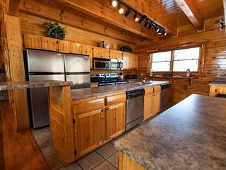 Double Kitchen - perfect for family meals.  Game Room and Hot Tub