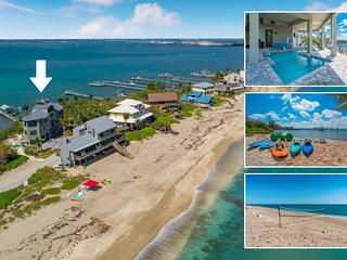 Nirvana Shores: 8BR/6BA Ocean-2-River FL Beach House w/heated pool,dock,elevator