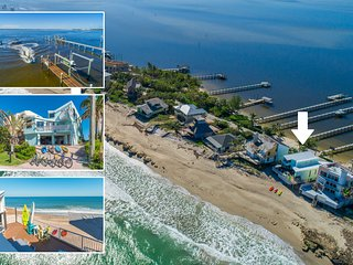 'Family Tides': Ocean-to-River SE Florida Beach House 7BR/6 BA, +Pool +Priv.Dock