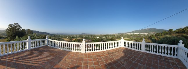 Breathtaking views from one of the terraces!