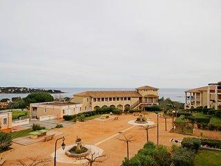 Cap Esterel Village: 2 pieces renove vue mer, dernier etage R1- 141la
