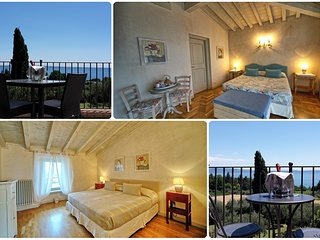 Deluxe Double rooms, king size bed, with private Balcony facing Lake Garda