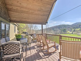 NEW! Chic Asheville Retreat w/ Game Room & Views!