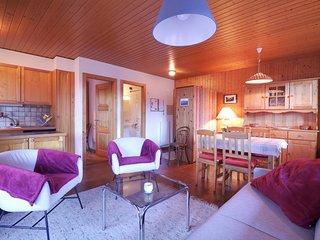 Bel appartement au centre de Champery avec vue