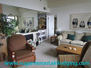 5th Floor Sugar Top Condo 2520. Grandfather view, rented by Sugar Mtn Lodging