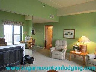 2nd Floor Sugar Top 2210, Grandfather Mtn views, rented by Sugar Mtn Lodging