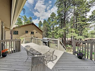 Tranquil Hideaway with BBQ Deck, Fireplaces & Private Garage | Near Downtown
