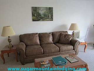 1 Bedroom Skyleaf Condo w great views. Rented by Sugar Mtn Lodging
