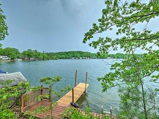 NEW! Quiet Cabin on Glen Lake w/ Boat Dock & Deck!