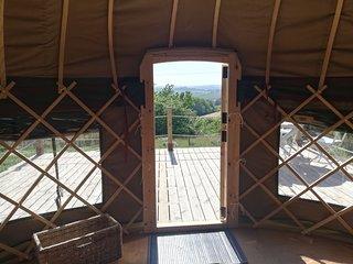 Paddock View Yurt just outside Looe (Sleeps 4)