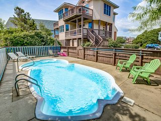 A Corolla Corral | Sound Side | Private Pool, Hot Tub | Corolla