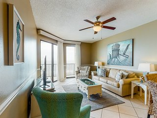 Gulf-front condo w/ amazing Gulf view & shared pools, hot tubs & sauna!