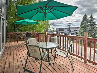 NEW! Walk to Lake from Laconia Ski Cabin w/ Deck!