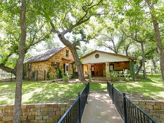 Lake LBJ 4BR Home w/ Private Boat Lift, Huge Yard with Tall Trees