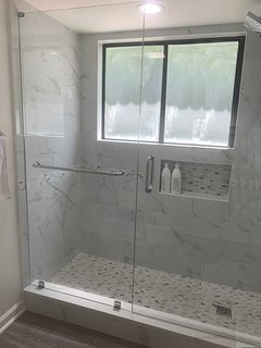Custom tile shower (prior to installation of new window)