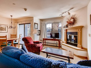 Ski-in/ski-out chalet just one block from Main Street w/shared pool & hot tub!