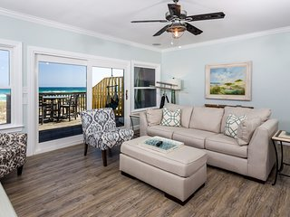 Beachfront townhouse w/ gulf views from private balcony!