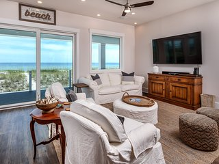 Navarre Beach! Brand-New Gulf-Front Home! Beach Chairs & Umbrella!