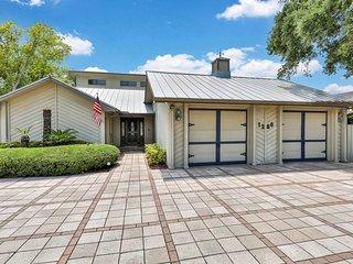 New listing! Retro-chic, riverfront getaway w/ a lanai, private pool, & sauna