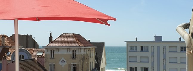 Terrasse vue mer ( exposition  sud ouest )