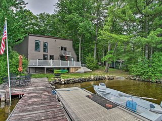 Lakefront Weare House w/ Private Dock & Fire Pit!
