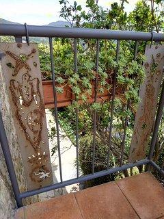 Decorazioni ringhiera del terrazzo