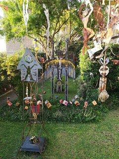 Sculture  nel giardino
