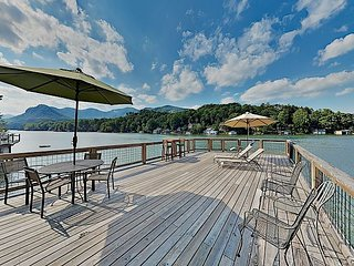 Beautiful Brand-New Lakefront Retreat w/ Boathouse, Great Room & Balcony
