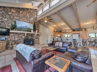 NEW! Ruidoso Home  w/ Private Wet Bar & Pool Table