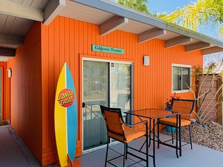 A Mid Century Modern Studio Casita Monthly Rental with Pool & Spa !