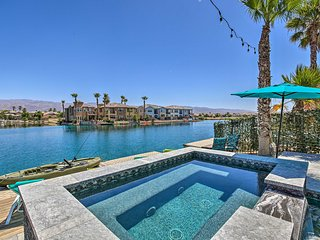 NEW! Luxe Waterfront Villa w/ Private Pool & Spa!