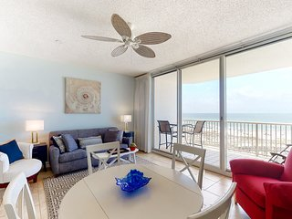 Family-friendly, Gulf front condo w/ a balcony, shared pools, & tennis
