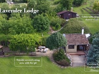 Quirky Park's Lavender lodge. Idylic setting minutes from Lake Balaton