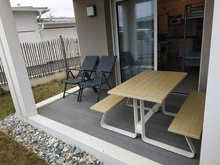 Villa Néo : Studio moderne avec terrasse - Océan et commerces à deux pas