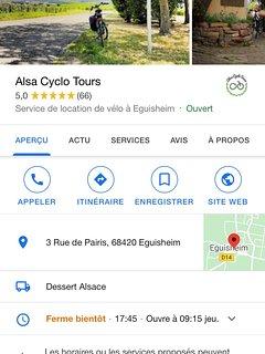 location de vélo sur Eguisheim