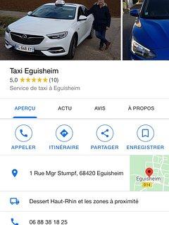 taxi à Eguisheim