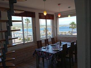 La Ciotat tres belle vue mer, appartement 80m2 grande terrasse 4/5 pers.