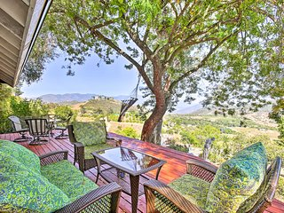 Hilltop Home in Wine Country w/ Hot Tub & Views!