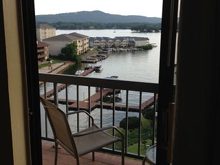 CONDO on the LAKE with a VIEW ~ Resort Lodge Sleeps 8 with XL INDOOR SPA POOL
