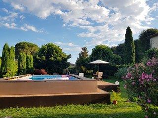 wonderful semi-detached house near Lucca, large garden, village walking distance