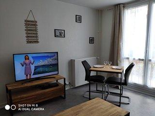 Studio spacieux 35 m2 tout confort à Lorient à 10 min des plages