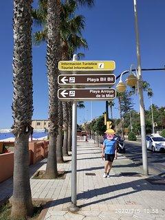 Las playas más próximas al apartamento. Playa Bil Bil y Playa Arroyo de la Miel.