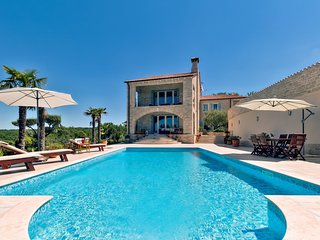 Luxury Villa Tranquility, in Istria, with a Pool