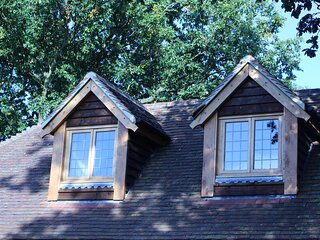 Characteristic countryside dormer windows set in a  beautiful location overlooking a nature reserve