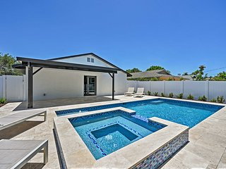 NEW! Chic Beach Home w/ Heated Pool 1 Mi to Ocean!
