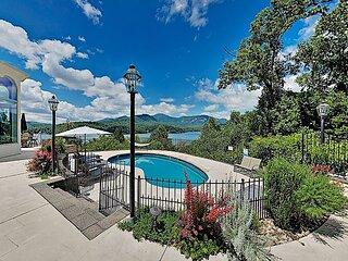 Panoramic Pool Paradise on Lake Lure w/ Pool, Kayaks, SUPs, Boathouse & Views